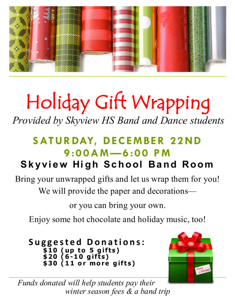 Christmas Fundraisers For Schools.Holiday Gift Wrapping Fundraiser Events