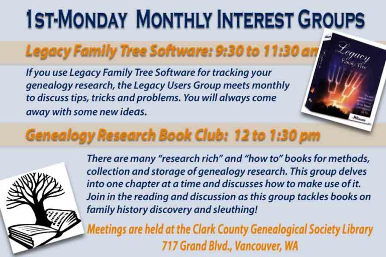 Legacy Family Tree Genealogy Software User Group – Events